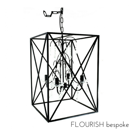 Chandelier - Square Caged