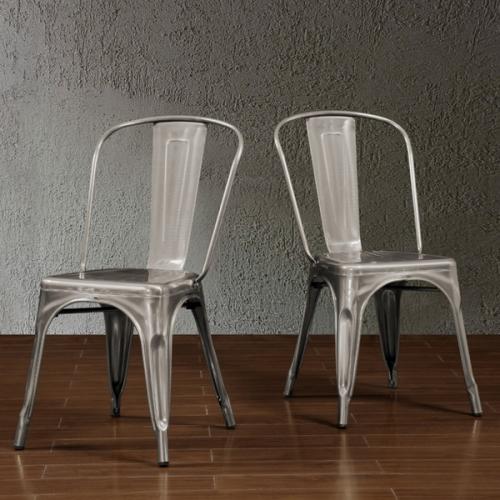 Gun Metal Cafe Chair