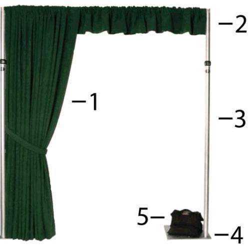 Pipe and Drape  3 Base