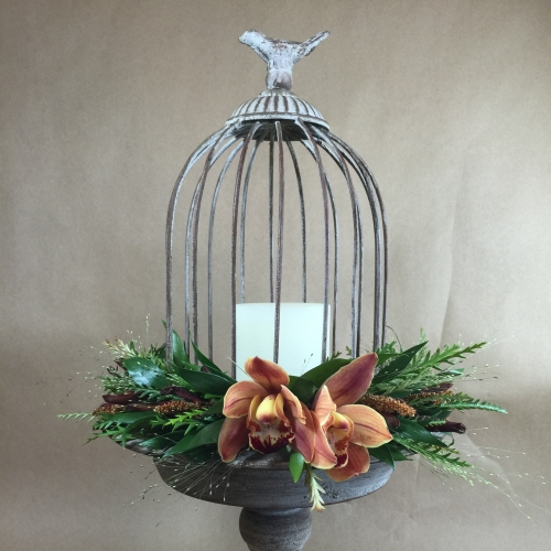Distressed Ornamental Birdcage
