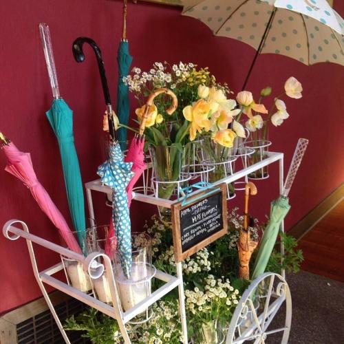 Vintage Floral Cart